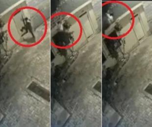 foto: Mujer se tiró del segundo piso para escapar de la agresión de su pareja