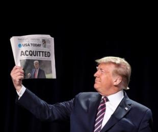 foto: Donald Trump fue absuelto en juicio político por asalto al Capitolio