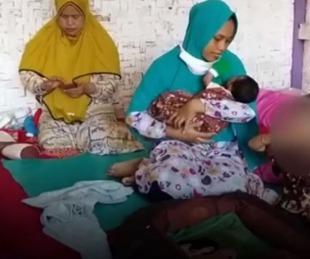 foto: Es de Indonesia y afirma que una ráfaga de viento la dejó embarazada