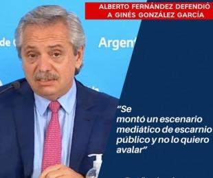 foto: Alberto Fernández sobre la destitución del exministro