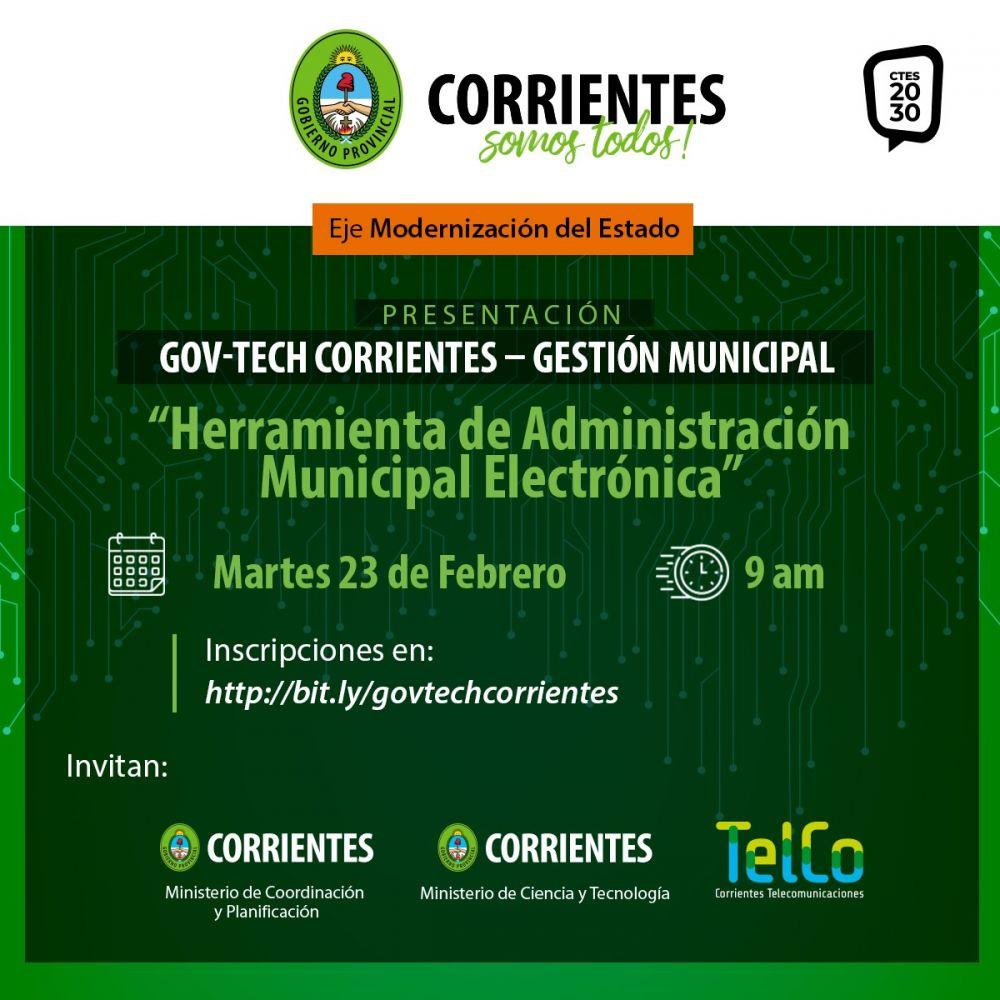 Provincia presenta una herramienta para administrar los municipios