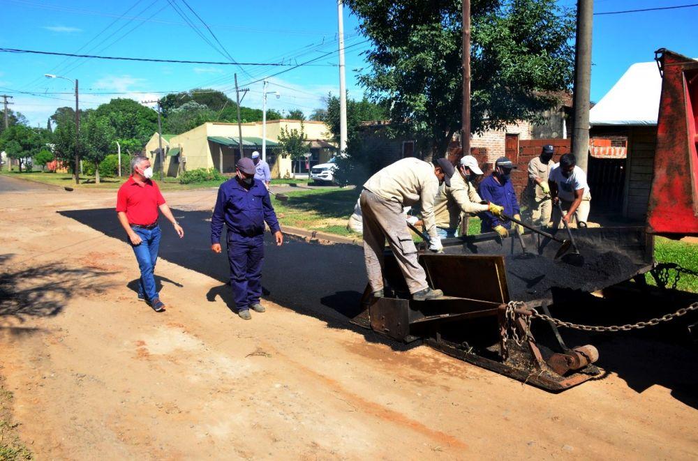 Iniciaron obras de 40 cuadras de asfalto en Bella Vista