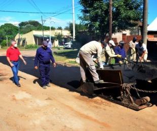 foto: Iniciaron obras de 40 cuadras de asfalto en Bella Vista