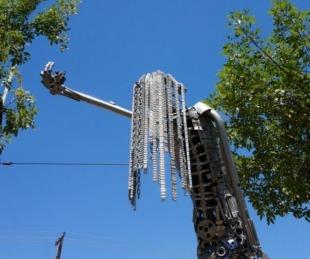 foto: Reinauguran monumento en memoria de víctimas de femicidios