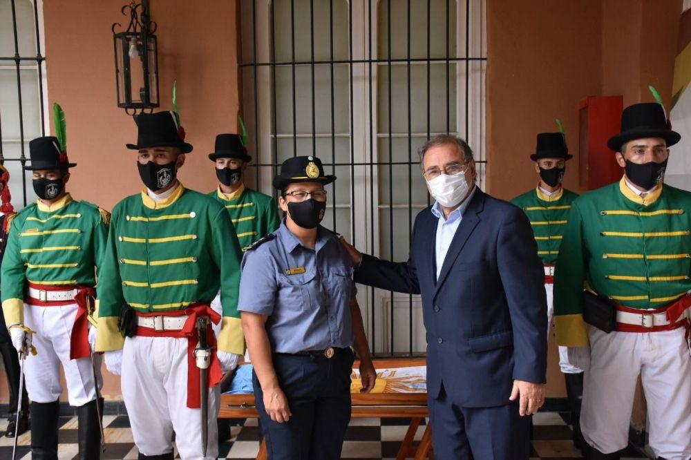 Tassano recibió a integrantes del Regimiento de Granaderos