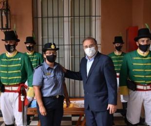 foto: Tassano recibió a integrantes del Regimiento de Granaderos