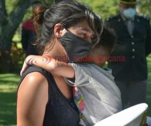 foto: Karen, madre y esposa de las víctimas: