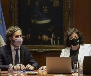 foto: Santiago Cafiero, aislado por ser contacto estrecho de Vizzotti