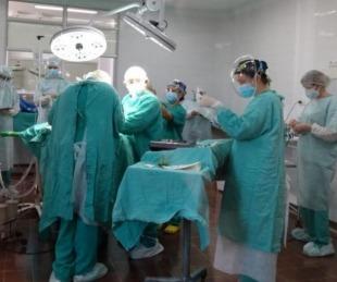 foto: Se colocó el primer dispositivo del año en el hospital Pediátrico