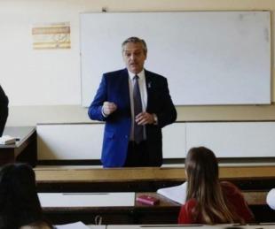 foto: Estudiantes de derecho de la UBA le exigieron a Alberto una respuesta