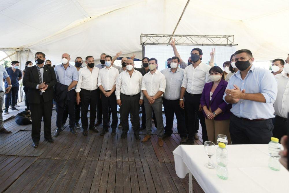De Pedro y Manzur se reunieron con dirigentes del Frente de Todos de Corrientes