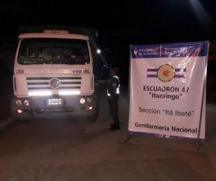 foto: Camionero llevaba 30.000 kilos de soja con documentación falsa