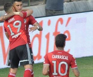 foto: River le gana a Platense por 1 a 0 en la vuelta de su duelo barrial