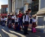 foto: Imágenes del primer día de clases presenciales en Corrientes