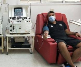 foto: El equipo de Regatas donó plasma tras superarse del Covid-19