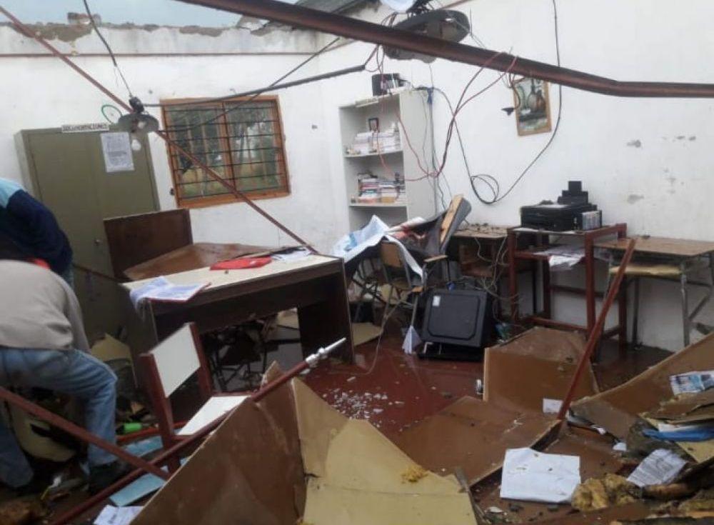 Temporal cerca de Pando: El único lugar afectado fue la Escuela
