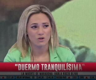 foto: Rocío Oliva tras el cruce con Claudia Villafañe: