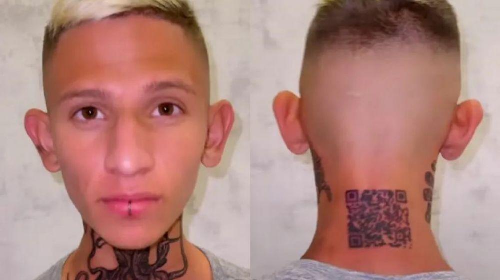 No salió tal cual: se tatuó el código QR de su perfil de Instagram y le dio fake