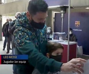 foto: Messi votó por primera vez en las elecciones del Barcelona