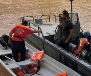 foto: Continúa la búsqueda del hombre de 55 años que cayó al río Paraná
