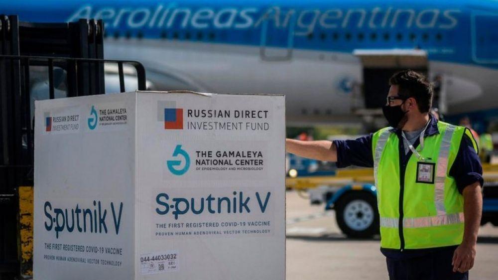 Llegaron a la Argentina otras 500 mil dosis de la vacuna rusa Sputnik