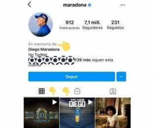 foto: El detalle del Instagram de Maradona que hace llorar a sus seguidores