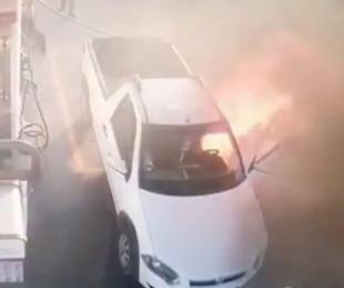 foto: Provocó un incendió en una gasolinera por usar su celular
