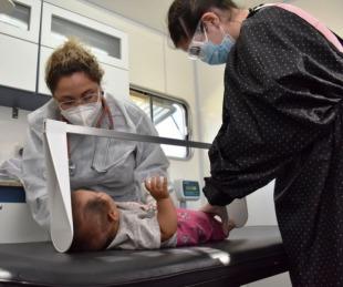foto: Se realizaron controles a niños y embarazadas en el Lomas del Mirador