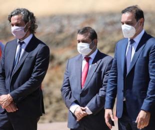 foto: Valdés y Cafiero recorrieron la obra hidroeléctrica Añá Cuá