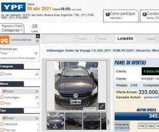 foto: Remates online de autos: cómo acceder a precios hasta 25% más bajos