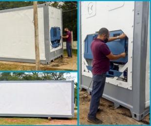 foto: Se instaló la primera cámara frigorífica para residuos patológicos
