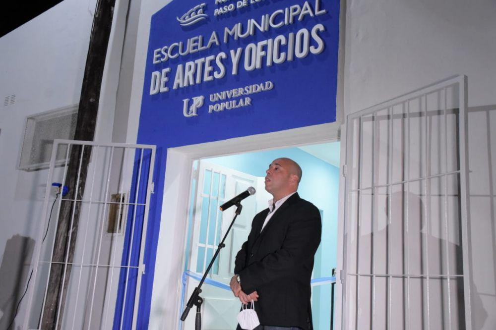 Ascúa inauguró nueva sede de la Escuela Municipal de Artes y Oficios