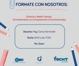 foto: Came y Fecorr Joven lanzan taller gratuito sobre
