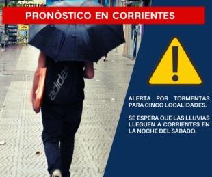 foto: El SMN renovó el alerta por tormentas para cinco localidades