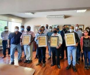 foto: Reconocimiento especial a un grupo agentes municipales en Bella Vista