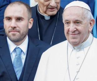 foto: El Papa Francisco recibió a Martín Guzmán en el Vaticano