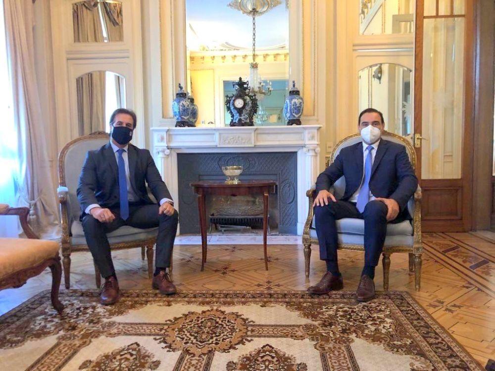Gustavo Valdés se reunió con el presidente uruguayo Lacalle Pou