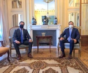 foto: Gustavo Valdés se reunió con el presidente uruguayo Lacalle Pou