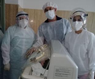 foto: Se produjo otro nacimiento en el Hospital de Campaña