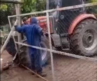 foto: El dueño de un campo atropelló a un empleado con su tractor en Mendoza
