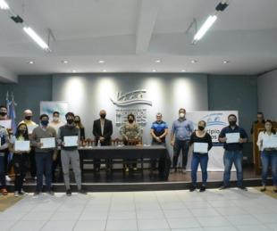 foto: Libres entregó certificados de la capacitación en impresión 3D