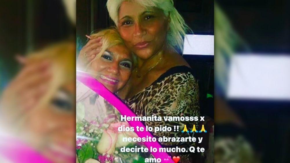 Gladys La Bomba Tucumana rogó por la salud de su hermana