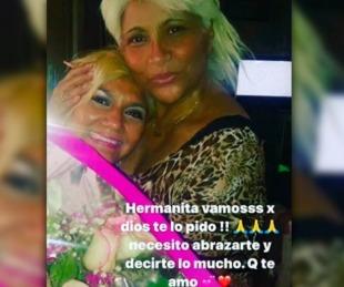 foto: Gladys La Bomba Tucumana rogó por la salud de su hermana