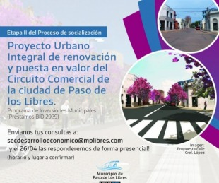foto: Reunión para exponer el Proyecto Urbano Integral de Renovación