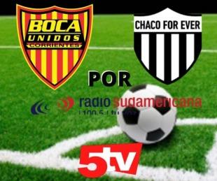 foto: Boca Unidos recibe a For Ever y lo vas a vivir por Sudamericana y 5TV