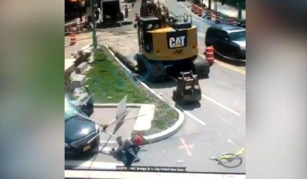 Video: Un hombre atropelló al femicida de su amiga