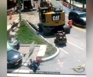 foto: Video: Un hombre atropelló al femicida de su amiga