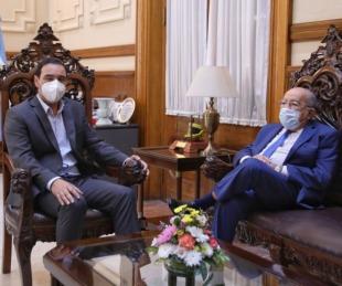 foto: Valdés recibió al ex gobernador José Antonio Romero Feris