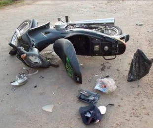 foto: Chocó con otra motocicleta y dos días después murió en el hospital
