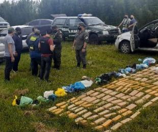 foto: Bella Vista: fueron detenidos con más de 90 kilos de marihuana